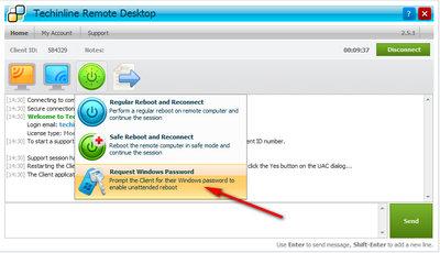 Request Windows Password Menu