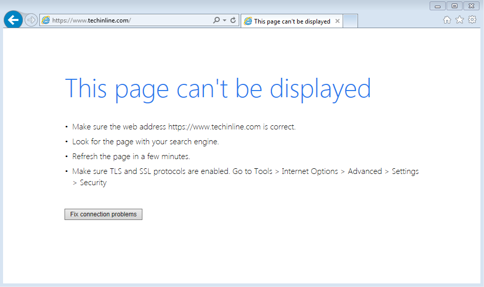 How To Fix Page Cannot Be Displayed Error In Internet Explorer