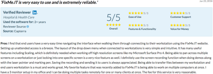 FixMe.IT - ease of use review